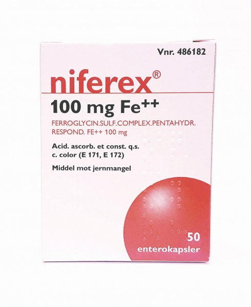 niferex 100 mg